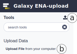 Uploading files In Galaxy